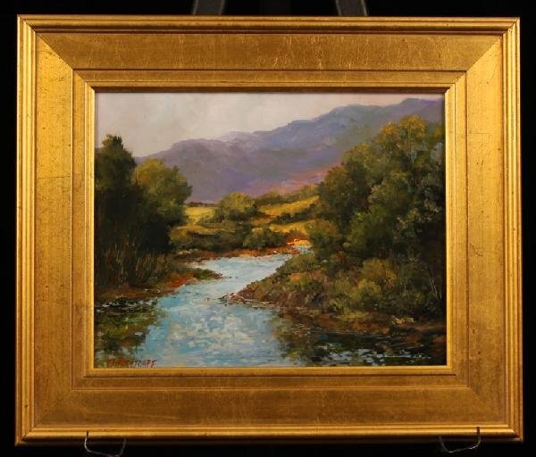 "Original Oil Painting ""Light Breezes"" by D. Bottorff ED"