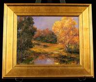Original Oil Painting Fall Yellow by D Bottorff ED54