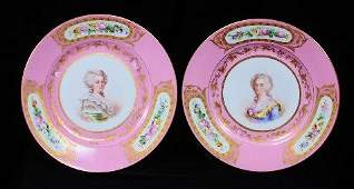 Pair of Sevres Porcelain Cabinet Plates ED316