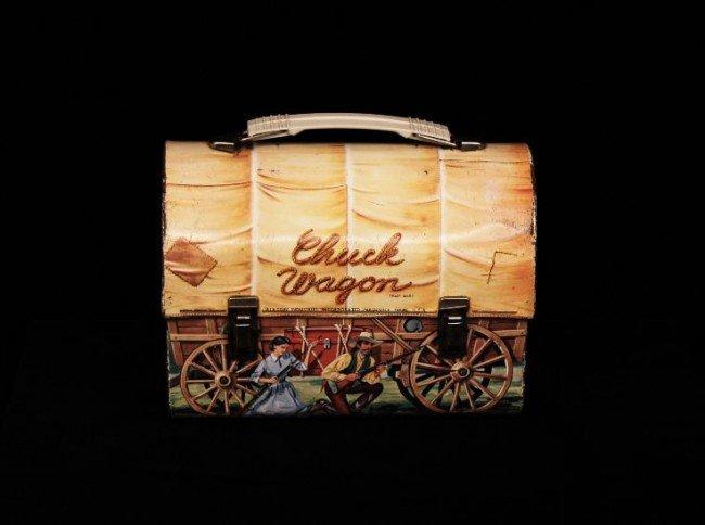 Vintage 1958 Chuck Wagon Dome Metal Lunchbox ED755