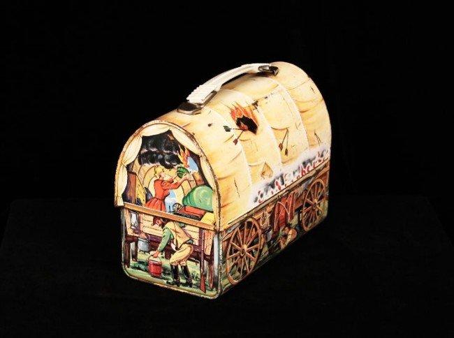 Vintage 1958 Chuck Wagon Dome Metal Lunchbox ED755 - 2