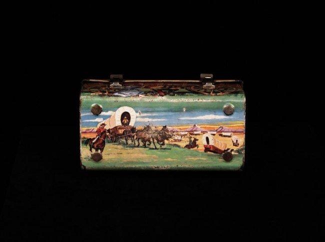 Vintage 1958 Chuck Wagon Dome Metal Lunchbox ED755 - 4