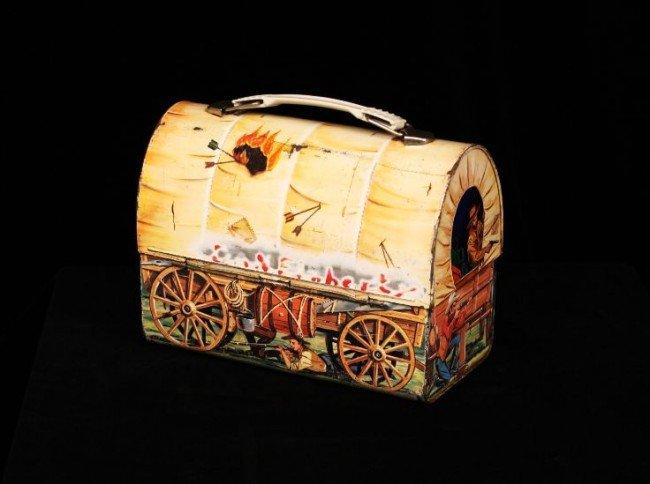 Vintage 1958 Chuck Wagon Dome Metal Lunchbox ED755 - 5