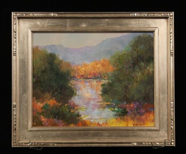 """Original Oil """"Late Fall Color"""" by D. Bottorff ED749"""