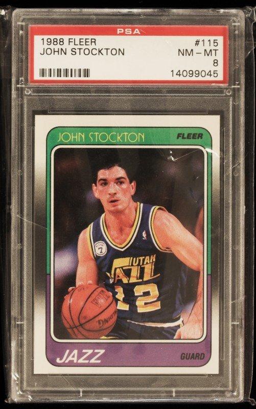 1988 Fleer John Stockton Rookie Card C319