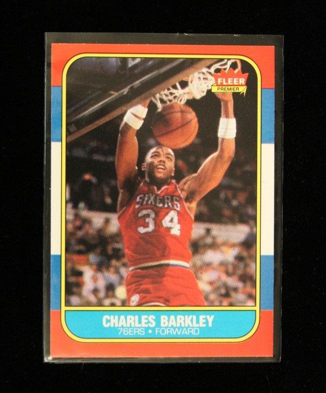 1986 Fleer Premier Charles Barkley Rookie Card C215