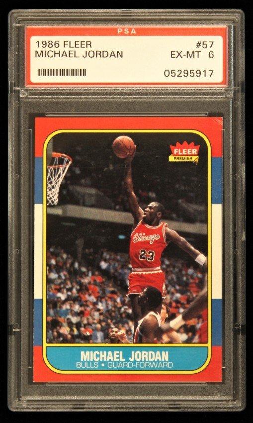 1986 FLEER Michael Jordan Rookie Card #57 PSA6 C326
