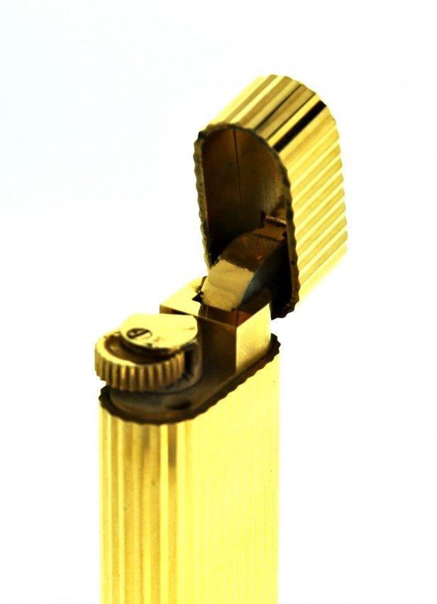 Vintage Gold Plated Cartier Lighter w/Original Box ED10 - 2