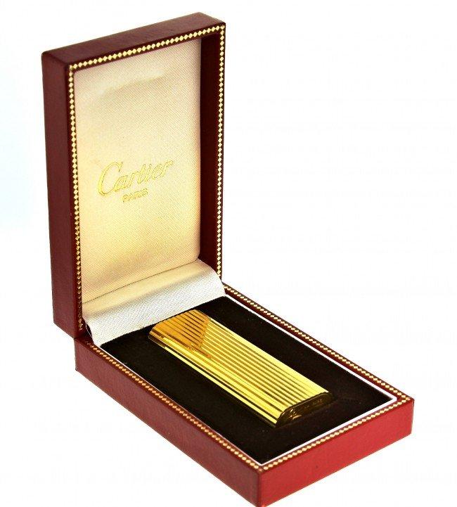 Vintage Gold Plated Cartier Lighter w/Original Box ED10 - 4