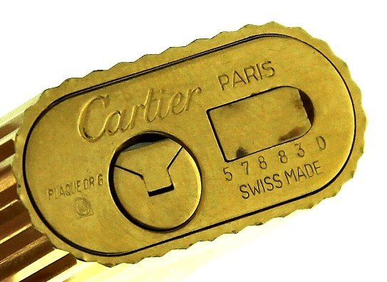 Vintage Gold Plated Cartier Lighter w/Original Box ED10 - 3