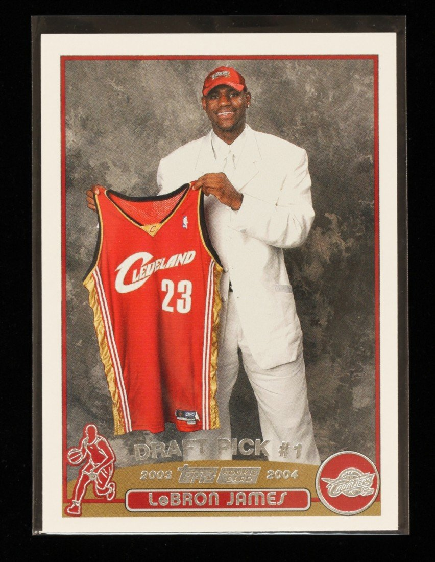 2003 Topps LeBron James Rookie Card C262