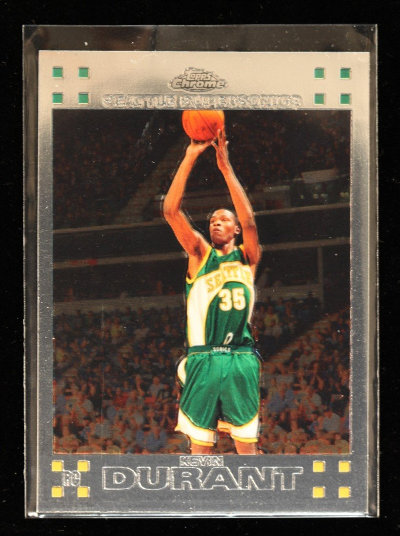 2007 Topps Chrome Kevin Durant Rookie Card C236
