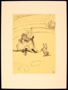 """Toulouse-Lautrec """"Clownesse Et Cochon"""" Ltd Ed Litho AP4"""