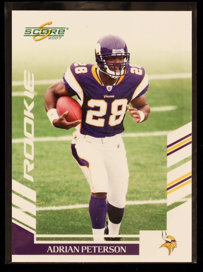 2007 Score Adrian Peterson Rookie Card C292