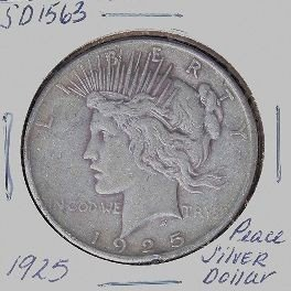 1925 Peace Silver Dollar SD1563