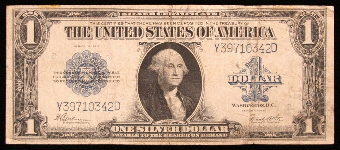 1923 LARGE $1  Blue Seal Silver Cert Speelman/White PM2