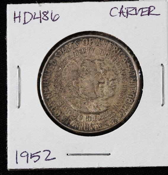 1952 Carver Washington Silver Half Dollar HD486
