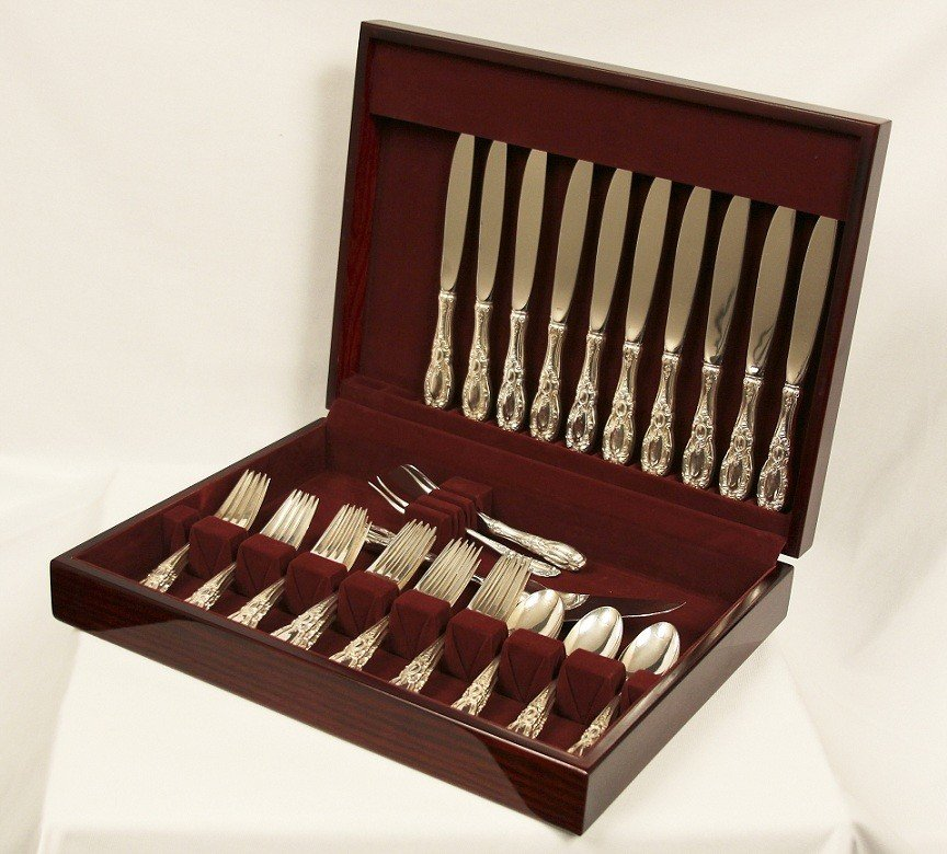 "Towle Sterling Silver Flatware Service 40 Pieces ""King"