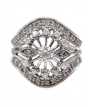 10KT White Gold Diamond Ring 0.60ct A2394