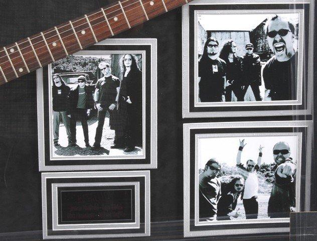 Metallica Autographed Guitar Collage - 3