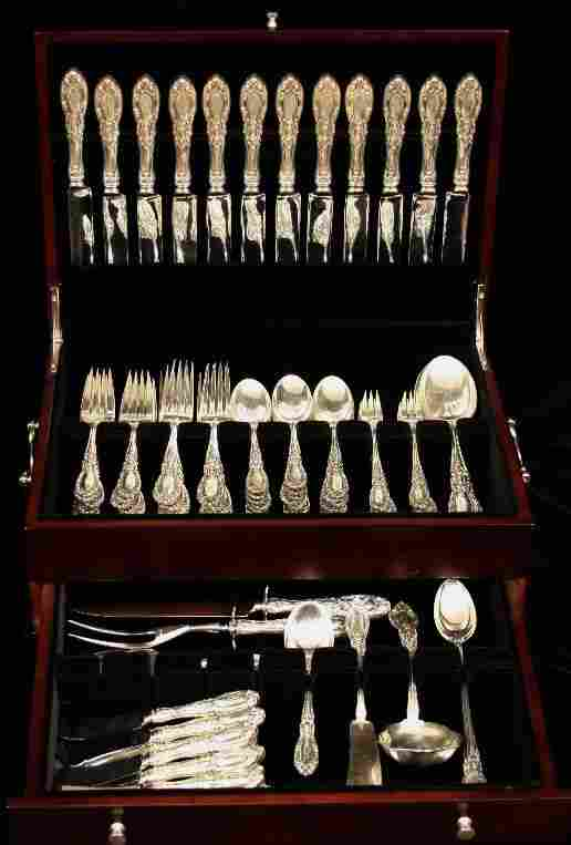 """Sterling Silver Svc for 12 - 91pc """"King Richard"""" ED830"""