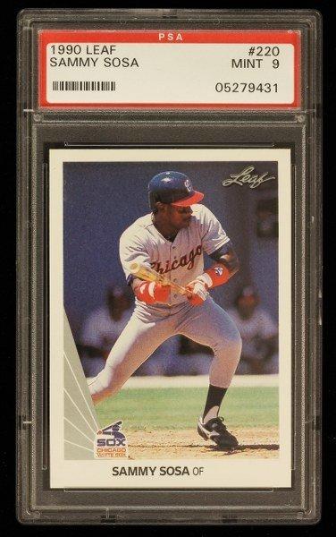 1990 Leaf Sammy Sosa Rookie Card C316
