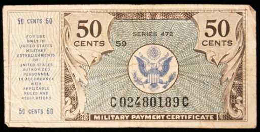 series 472 50 cent military payment certificate pm2234