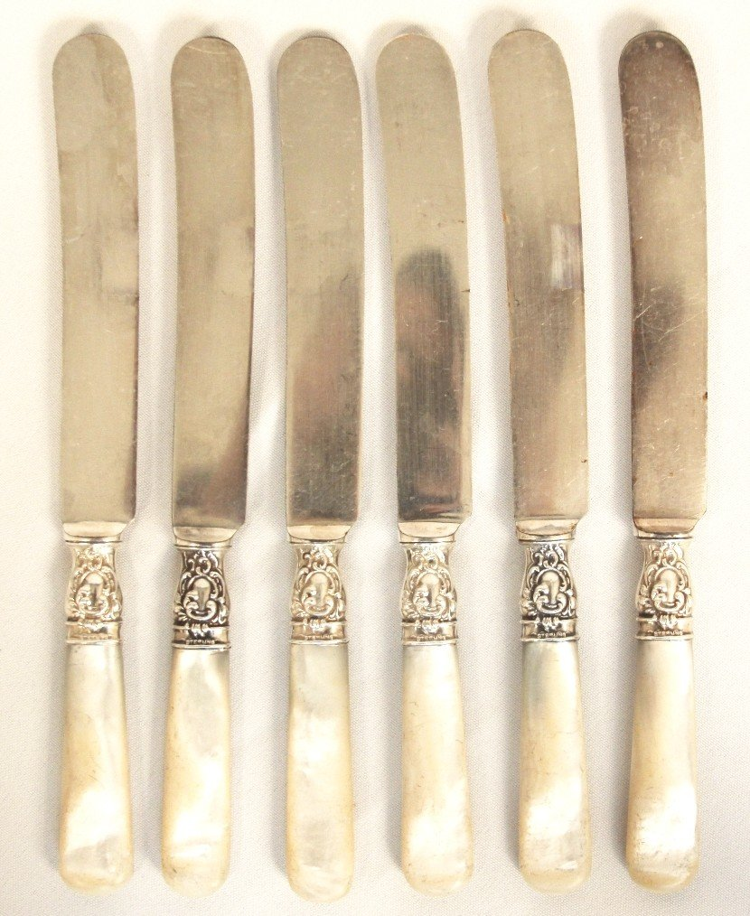 ROSTFREI VINTAGE SILVER MOTHER OF PEARL KNIFE SET Feb 28