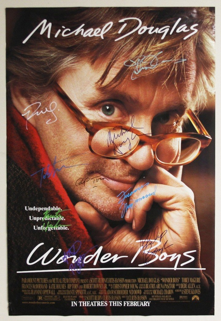 """Wonder Boys"" Autographed Movie Poster SM39"