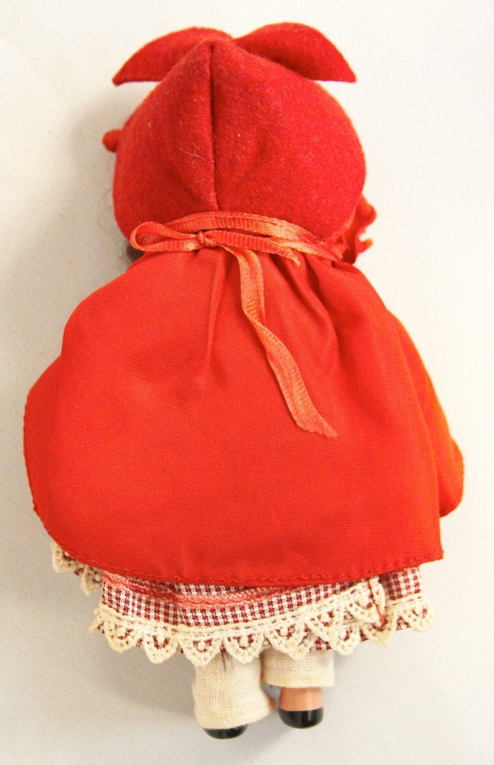 Vintage Nancy Ann Storybook Doll Little Red Riding Hood - 2