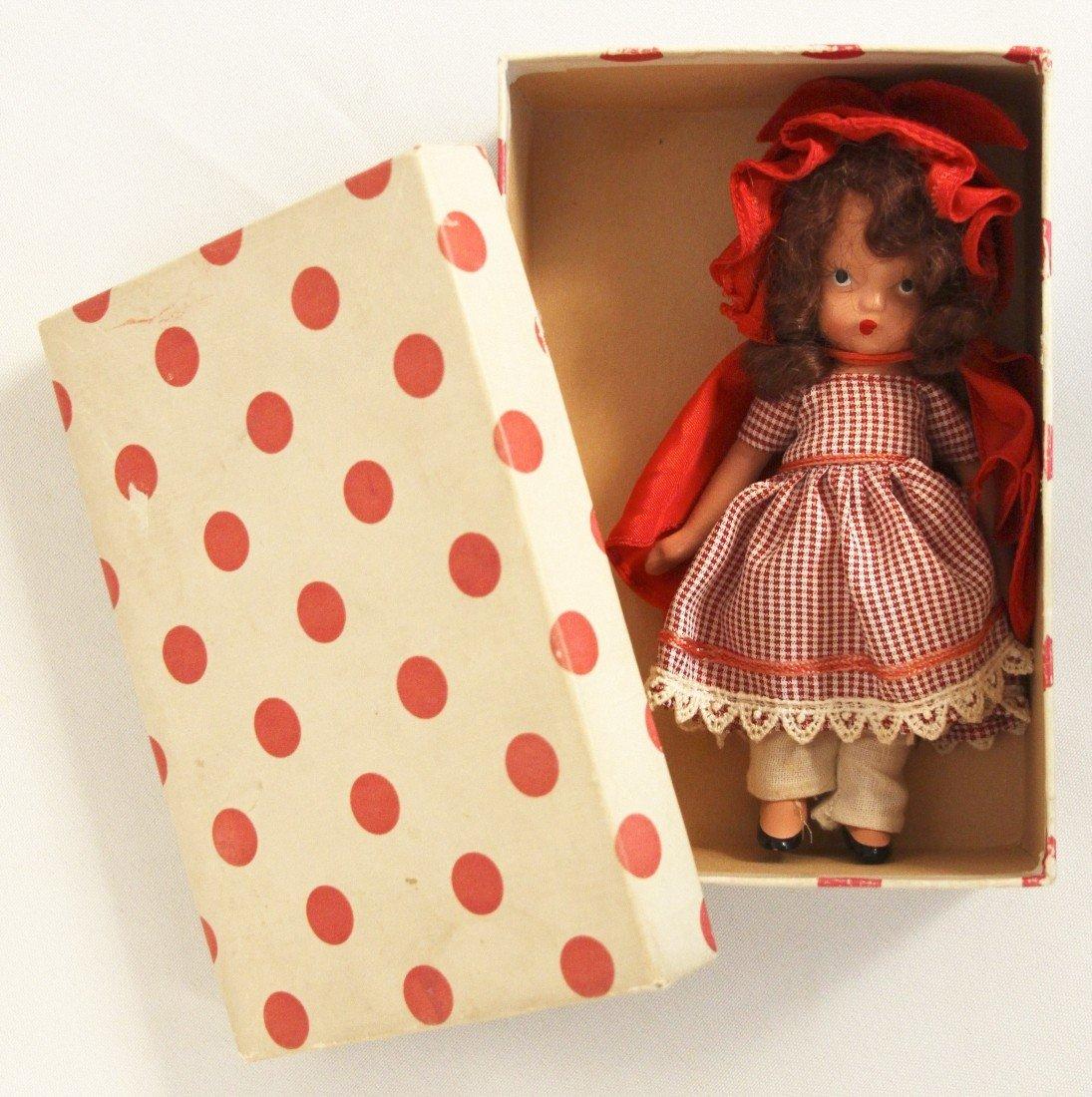 Vintage Nancy Ann Storybook Doll Little Red Riding Hood - 3