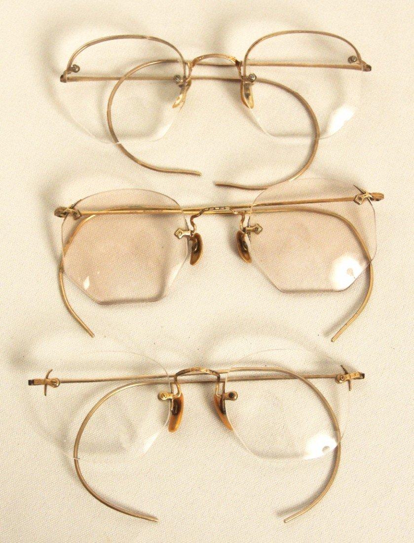 Lot of 3 Vintage/Antique Eyeglasses ED1184