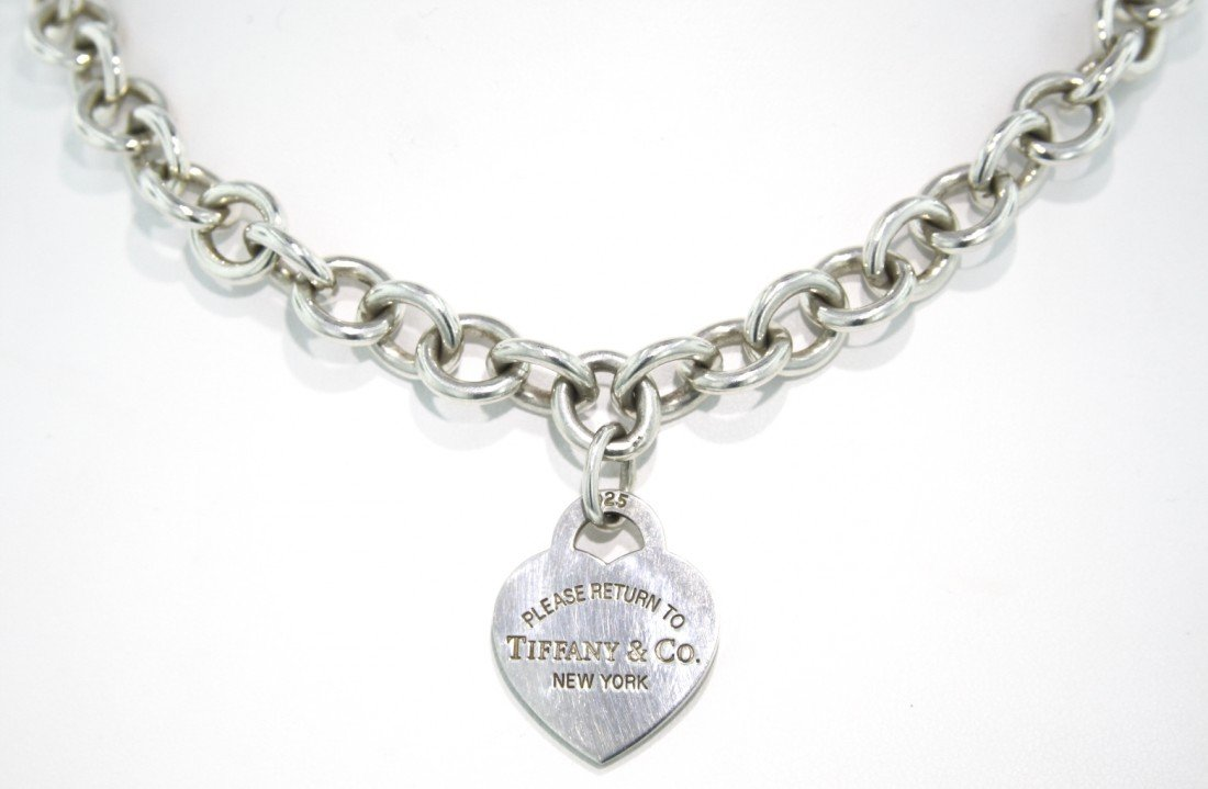 """""""Return to Tiffany and Co"""" Sterling Silver Necklace WBS"""