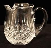 Waterford Crystal Ice Lip Jug Lismore Pattern WBL31