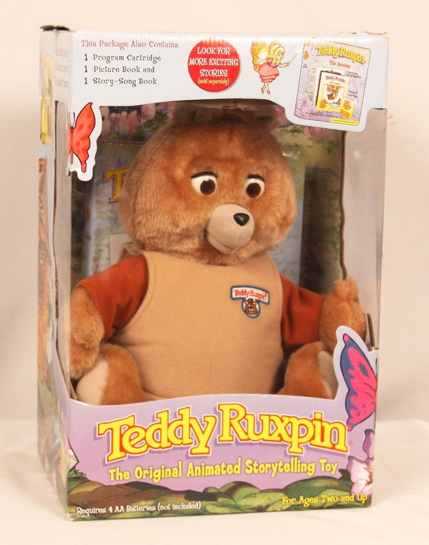 Teddy Ruxpin Toy with Cartridge and 2 Books BD243