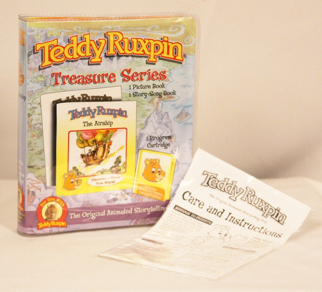 Teddy Ruxpin Toy with Cartridge and 2 Books BD243 - 4