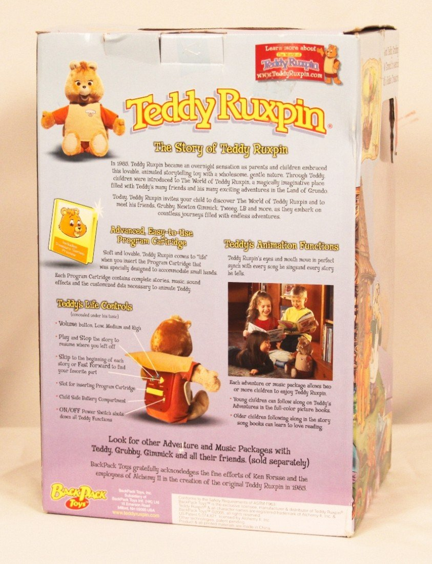 Teddy Ruxpin Toy with Cartridge and 2 Books BD243 - 5