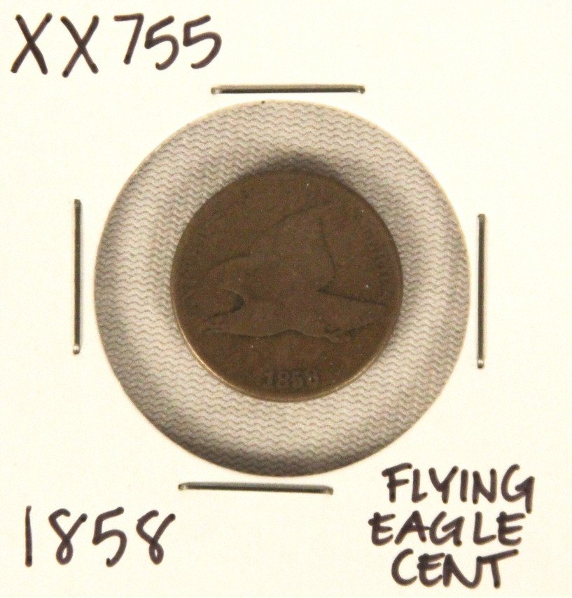 1858 Flying Eagle Cent XX755