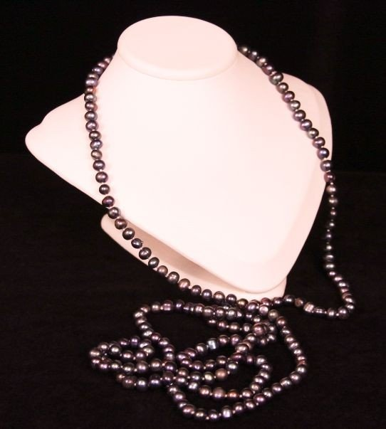 """60"""" Dark Coral Pearl Necklace 12-14mm PS24"""
