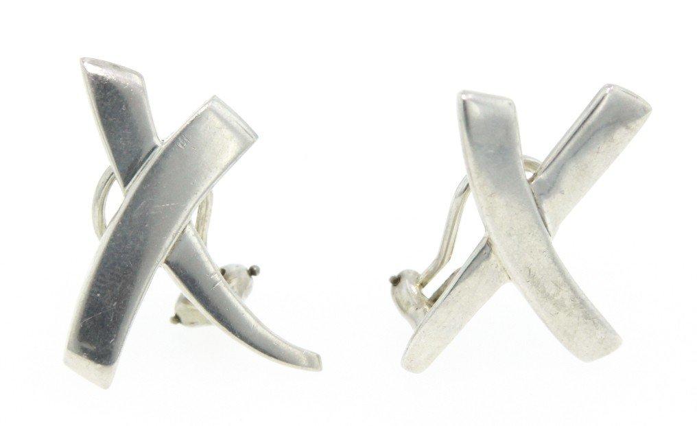 Vintage Tiffany and Co Paloma X Earrings WBS114