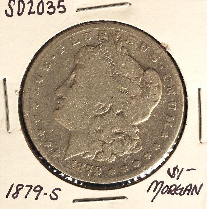 1879-S $1 Morgan Silver Dollar Coin SD2035