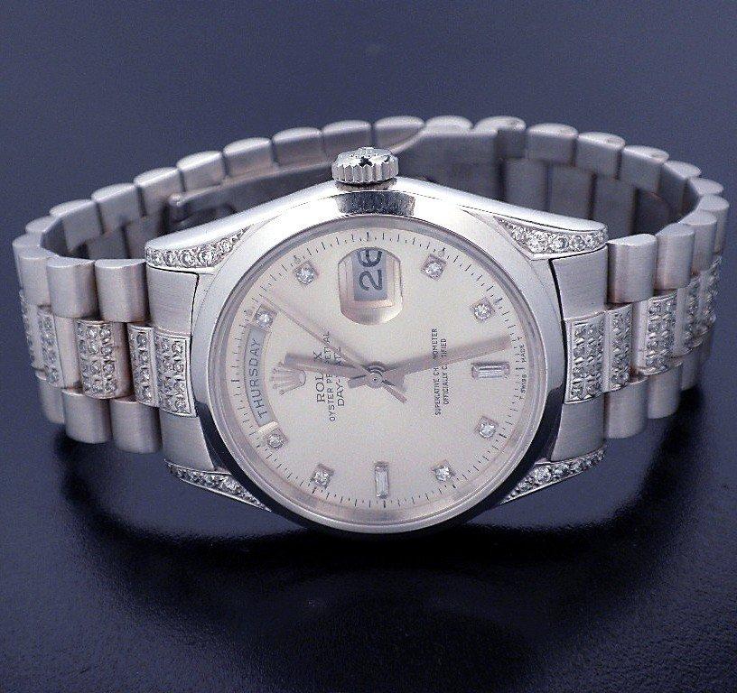 Rolex 18KT White Gold Super President Style DayDate Wat