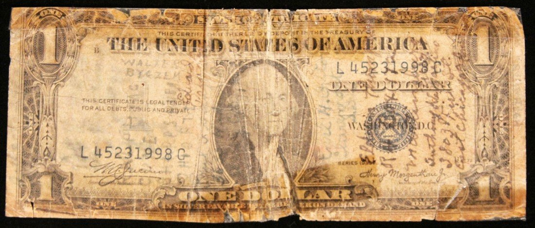 1937 $1 Silver Certificate Star Note PM2116