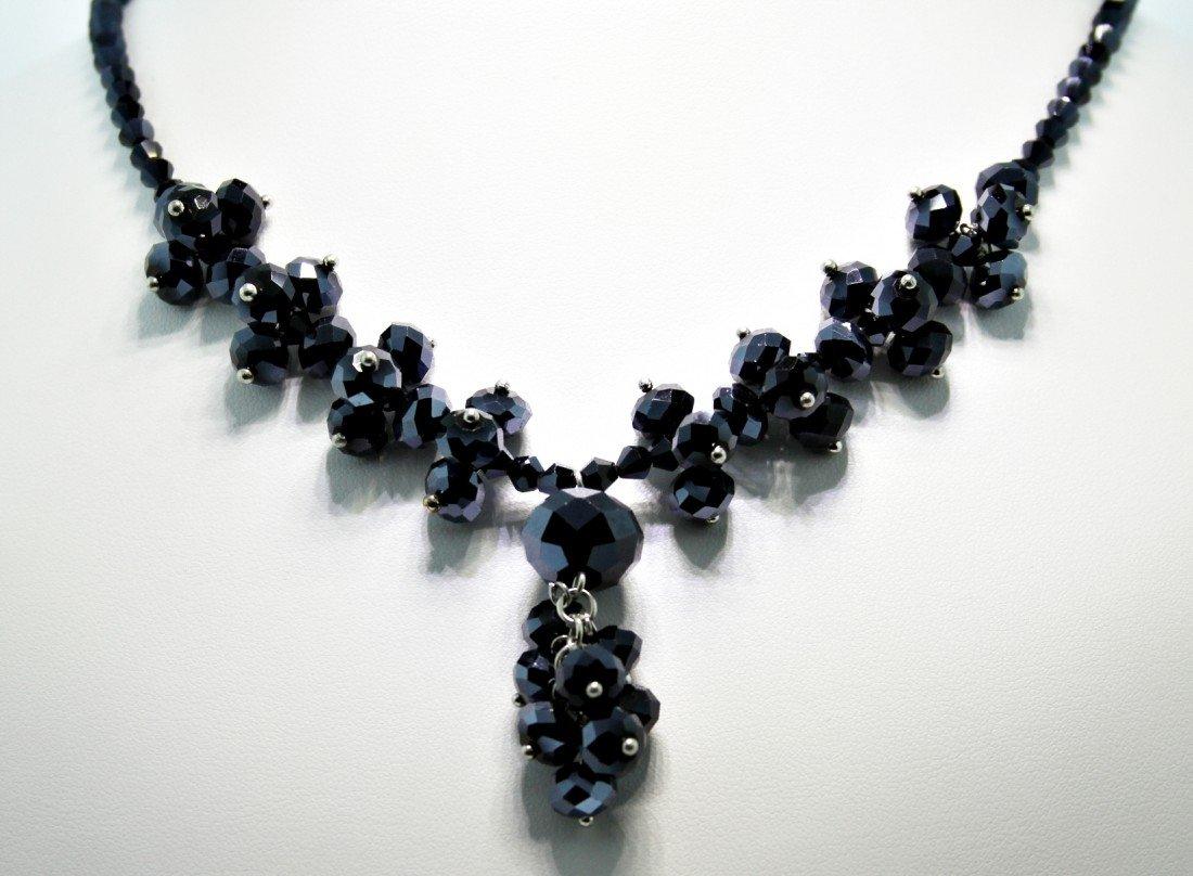 Glam-Black Crystal Necklace CN59