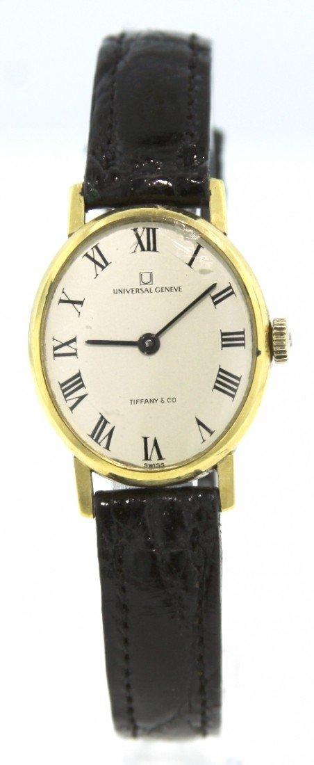 Ladies 18KT Gold Universal Geneve Wristwatch for Tiffan