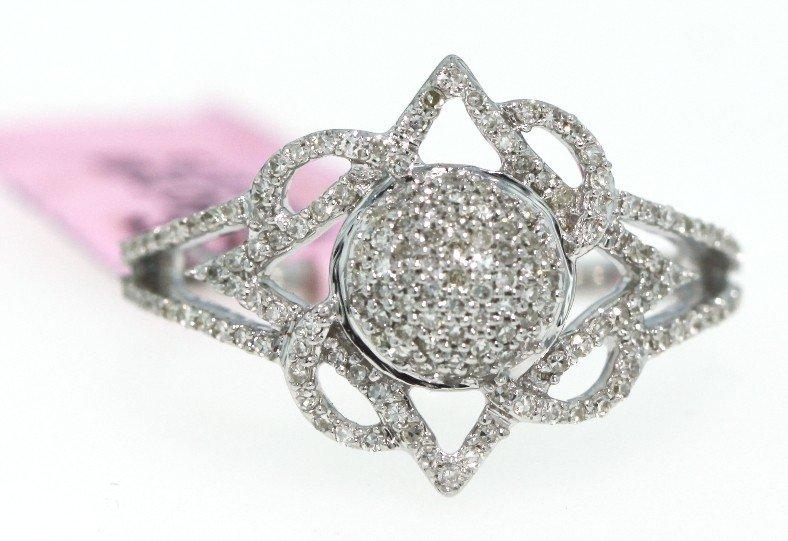14KT White Gold .4ct Diamond Flower Design Ring FJM600