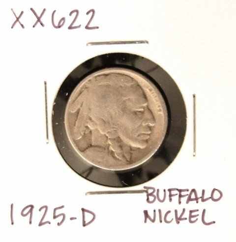 1925-D Buffalo Nickel XX622