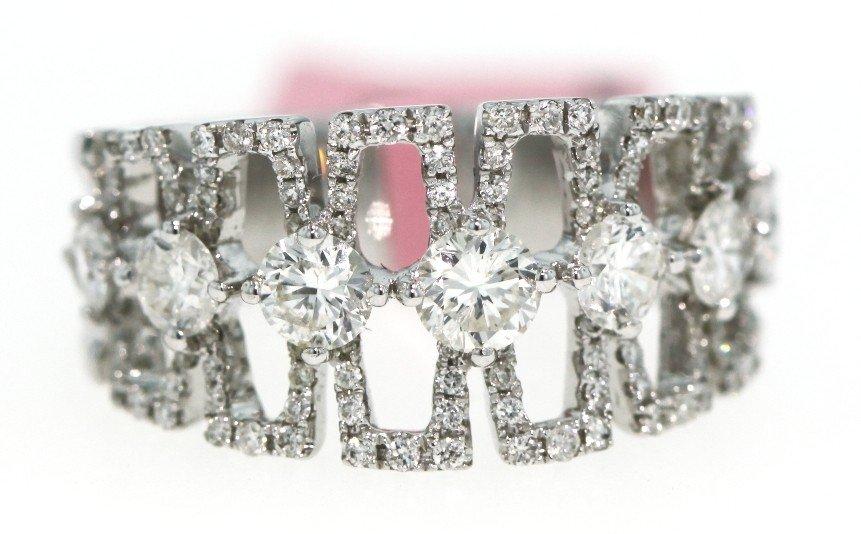14KT White Gold 1.44ct Diamond Geometric Ring FJM482