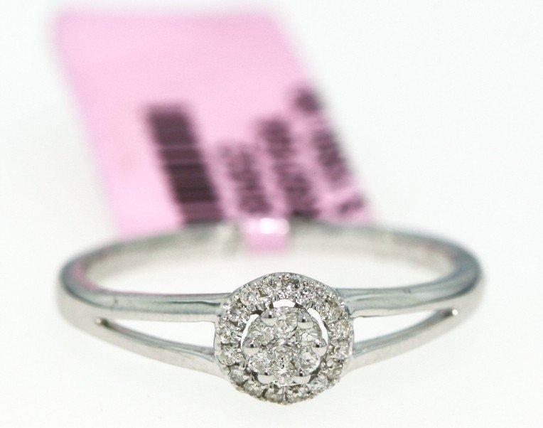 14KT White Gold .13ct Diamond Ring FJM602