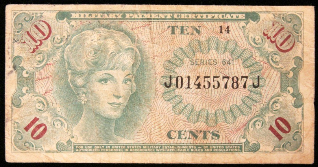 Series 641 10 Cent Military Payment Certificate PM2238